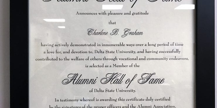 Charlene B. Graham Honored as Inductee into Delta State University Alumni Hall of Fame